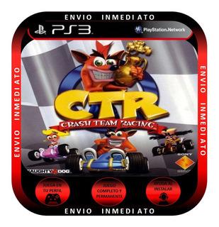 Crash Ctr + Juego De Regalo Ps3 Form Dig