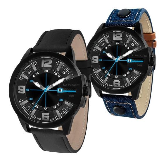 Relógio Analógico Masculino Lince Mrc4486s Kw39 2 Pulseiras