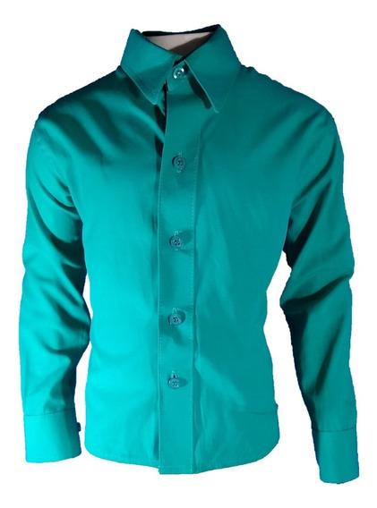 Kit 4 Camisa Social Slim Infantil Frete Gratis