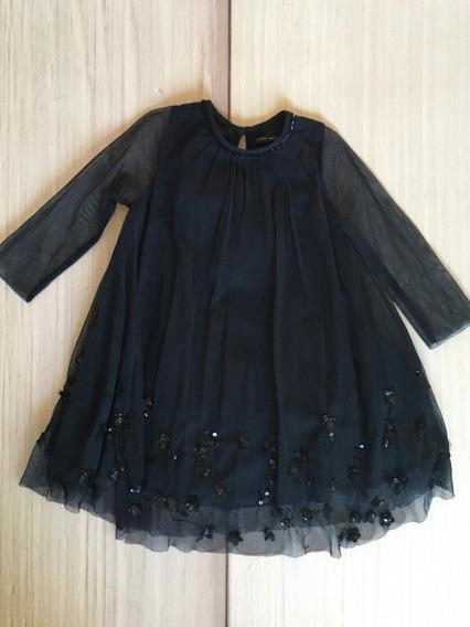 Vestido Little Akiabara Tul, Bordado, Lentejuelas, Talle 2