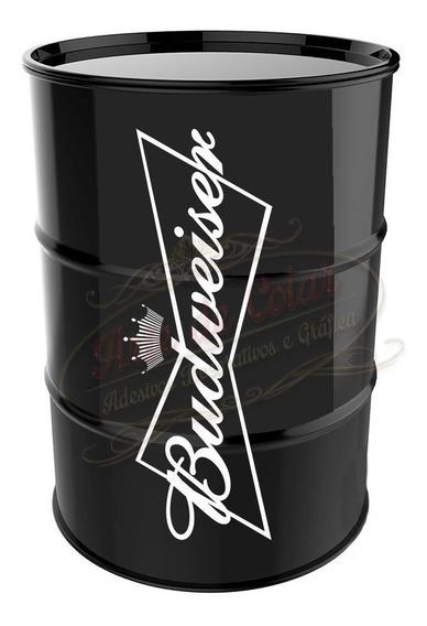 Adesivo Decorativo Budweiser Para Tambor Tonel Barril 200l