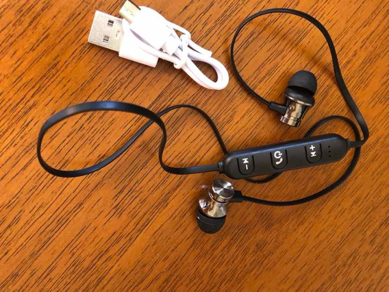 Fone De Ouvido Bluetooth Com Fio E Controle. Top