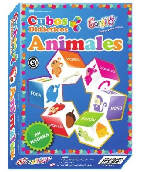 Gordillo Cubos Didacticos De Madera Animales