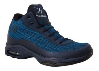 Tenis Hombre Basquetbol Po Box 6080 Azul Msi