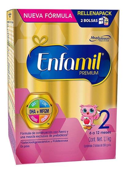 Fórmula para lactantes en polvo Mead Johnson Enfamil Premium 2 en caja de 1.1kg