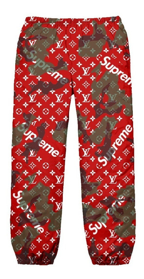 Calça Tactel Camuflado Swag Camo Supreme Rap Trap Lil Top