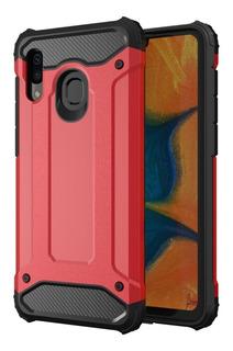 Capa Anti Impacto Samsung Galaxy A20 A30 +pelicula Vidro 3d
