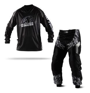 Calça E Camisa Motocross Trilha Pro Tork Insane In Black