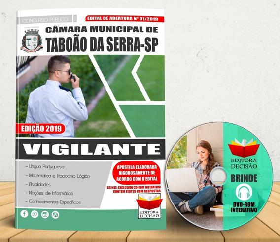Concurso Taboão Da Serra Vigilante Apostila 2019 Atualizada