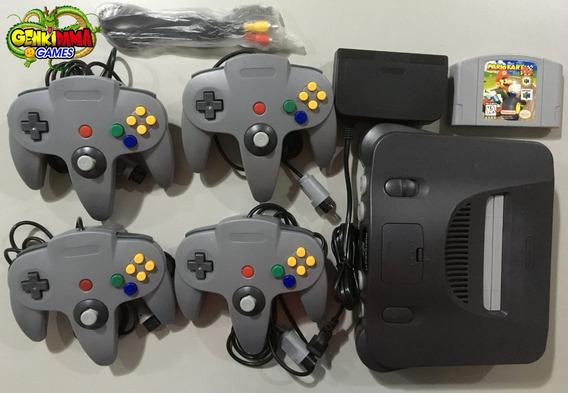 N64 Nintendo 64 Completo C/ 4 Controles + Mario Kart