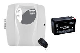 Kit Central De Cerca Elét. Genno Rev. Control + Bateria 7amp