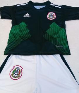 Remate! Ultimos! Jersey Infantil Mexico 2019 Incluye Short