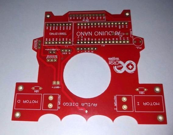 Placa De Control Robot Velocista - Seguidor De Linea