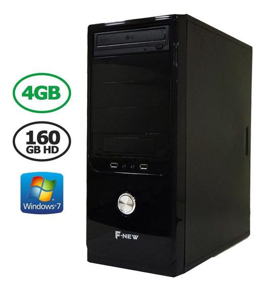 Computador Desktop 4gb Hd 160gb Hdmi Wind7 F-new