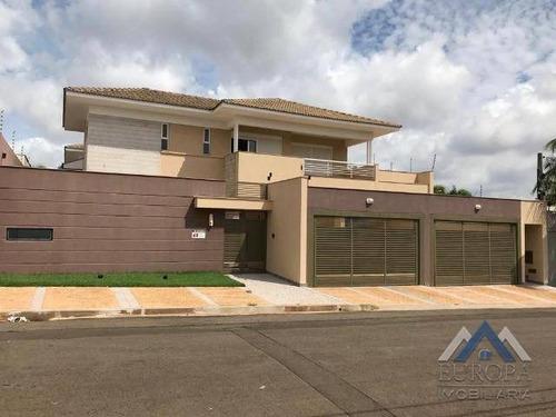 Imagem 1 de 21 de Sobrado Com 6 Dormitórios À Venda, 1066 M² Por R$ 4.350.000,00 - Bela Suiça - Londrina/pr - So0126
