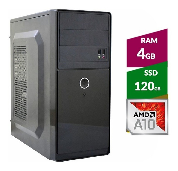 Pc Amd A10 9700 Bristol Ridge + Ssd120gb + 4gb Ddr4 2400mhz