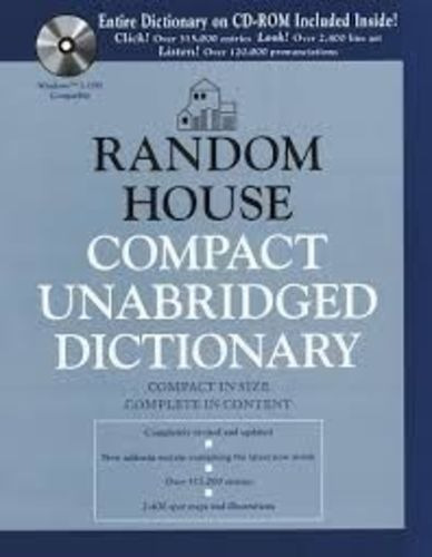 Random House Compact Unabridged Dictionary - Includes Cd-rom
