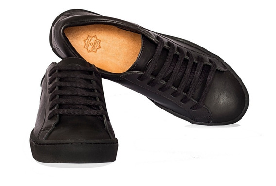 Zapatillas Justicialistas Cooke Cuero Negras -cosidas-