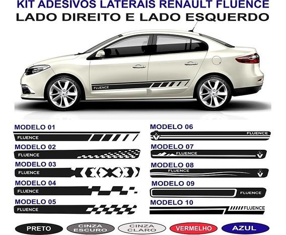 Acessorios Renault Fluence Adesivos Lateral Par Faixas