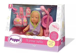 Juguete Muñeca Bebe Poppi Mi Primer Bañito Babymovil 16017
