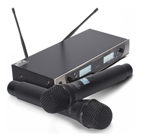 Microfone Sem Fio Duplo 100 Metros Digital Uhf Profissional