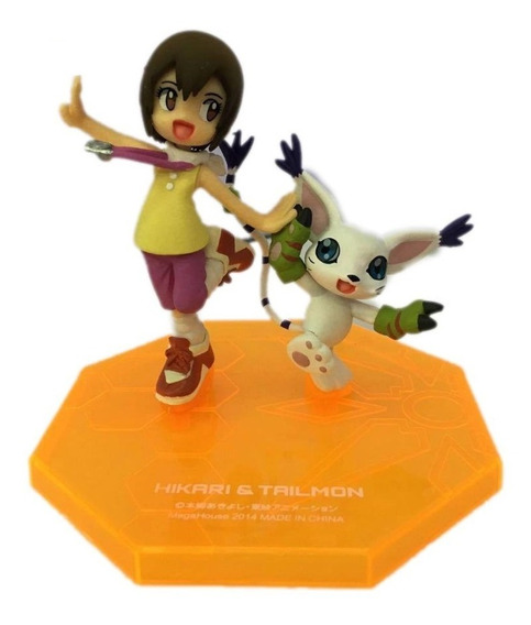 Action Figure Digimon Adventure Hikari & Tailmon Gem Series