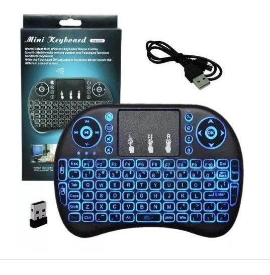 Mini Controle Sem Fio Mouse Pad Tv Box Smart Tv