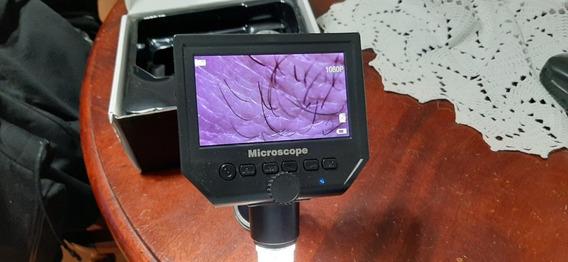 Microscopio Lcd Digital Com Tela