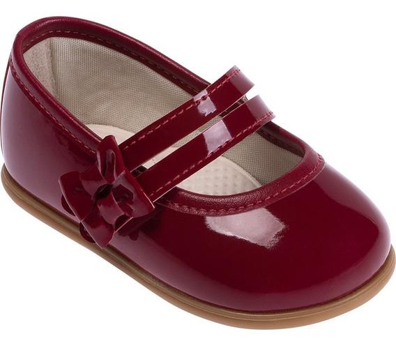 Sapato Menina Festa Bordô Verniz Lacinho - Pimpolho
