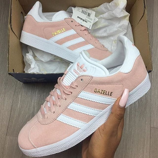 adidas gazelle mujer rosa claro