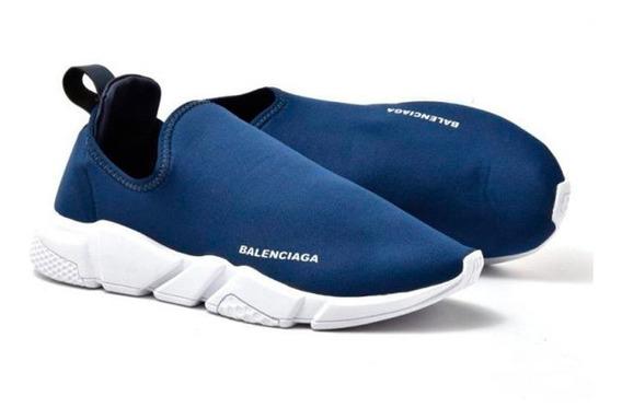 Tênis Masculino Balenciaga Speed Cano Curto Azul