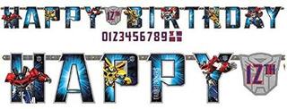 Transformers Niños Fiesta De Cumpleaños Jumbo Agregar Una