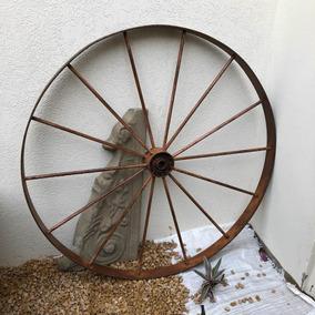 Antiga Roda De Carroça De Ferro Cod #1477