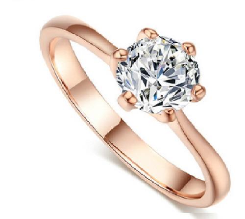 Anillo Compromiso Corona Princesa Oro San Valentin Alianza