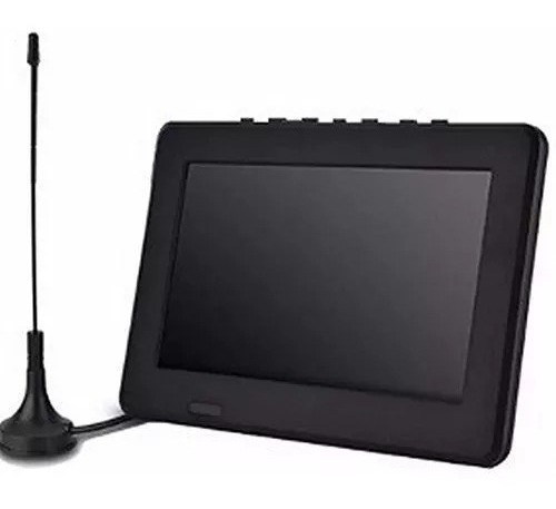 Tv Portátil Lcd 7 Polegadas Tomate Tela Monitor C/ Antena7