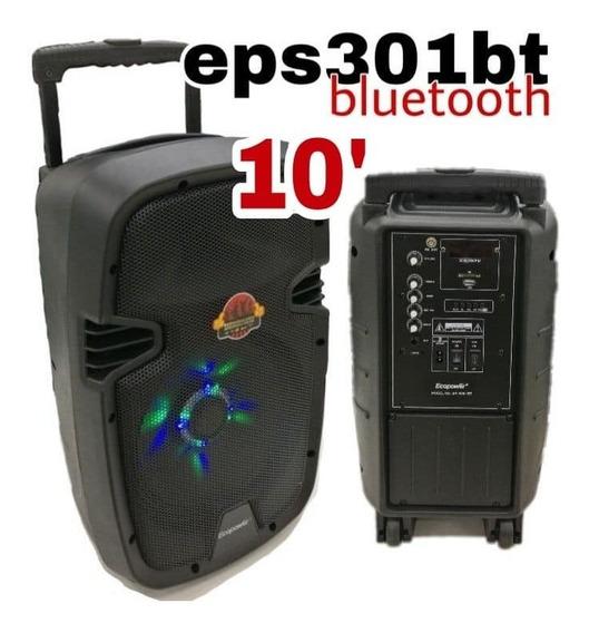Caixa De Som Ecopower Ep-s301 / 400w /t10 /bt/usb/ 02 Mic