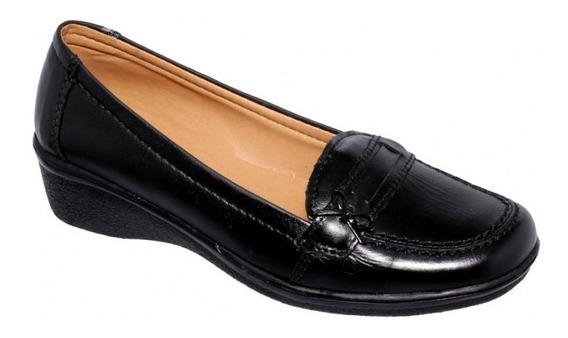 Zapato Para Dama Marca Piso Nueve Piel Negro 6847