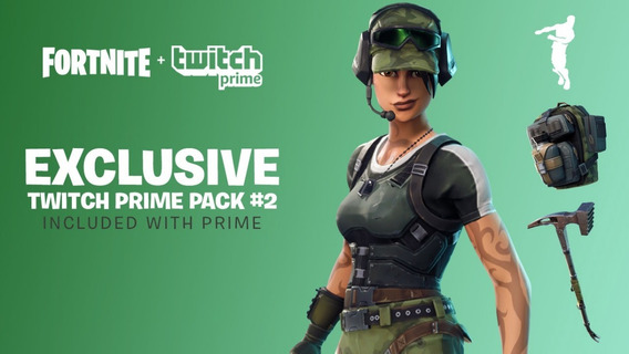 Fortnite 2 Skins Pack Loot Twitch Prime Ps4/xbox/pc
