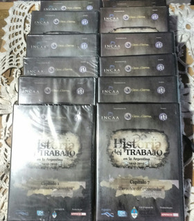 Coleccion De 12 Dvds .-historia Del Trabajo En La Argentina.