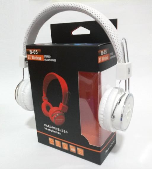 Fone Sem Fio Bluetooth Fm Sd Card Bass Stereo P2 Galaxy