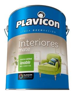Plavicon Latex Interiores Lavable Blanco Mate Lata X 4 Kg