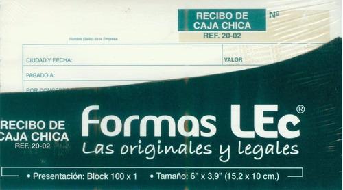 Forma Lec Recibo Caja Chica Ref. 20-02 Ts511