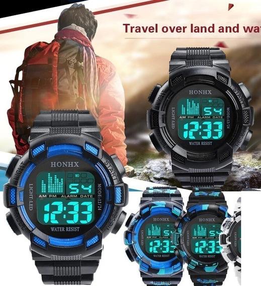 Relógio Esportes Digital Honhx 30m Resistente A Água