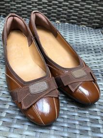 Zapatos Ferragamo Mujer Flats Originales Café
