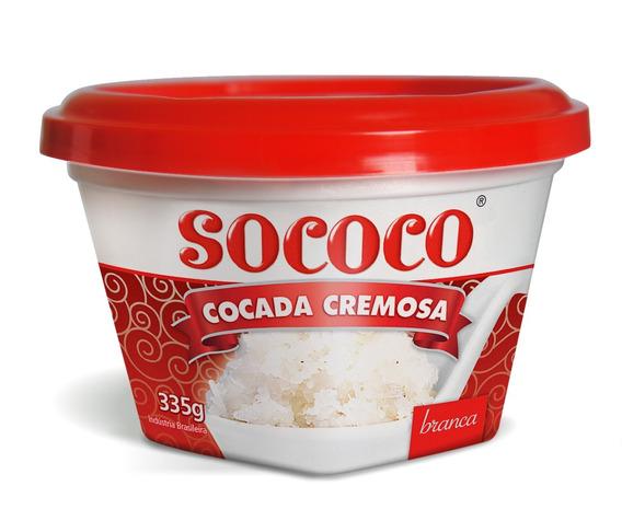 Doce De Coco Sococo Branco 335g Kit Com 6 Unidades