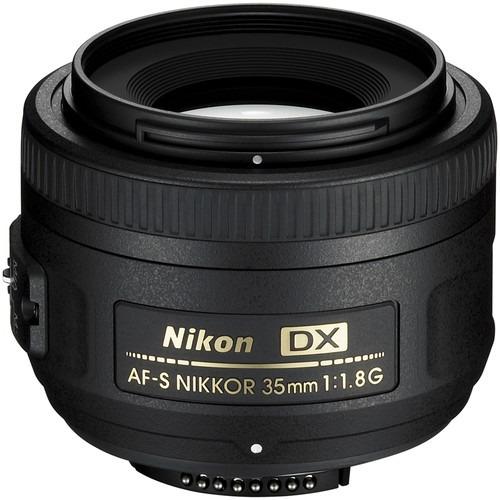 Lente Nikon Af-s Nikkor 35mm F/1.8g Autofoco Garantia Sjuros
