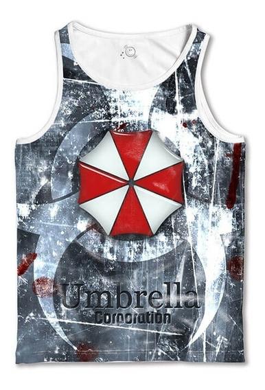 Regata Branca Resident Evil Camiseta Regata Masculina