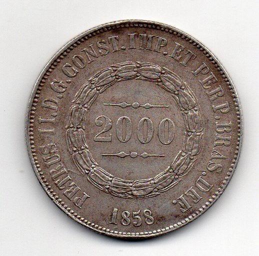 2000 Reis 1858 Data Não Emendada Sob