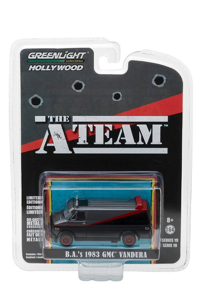 Greenlight 2018, Los Magníficos The A Team Van, Mide 8 Cm.