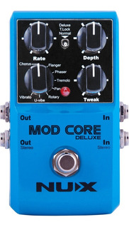 Pedal Nux Deluxe Mod Core Para Guitarra Y Bajo Modulaciones